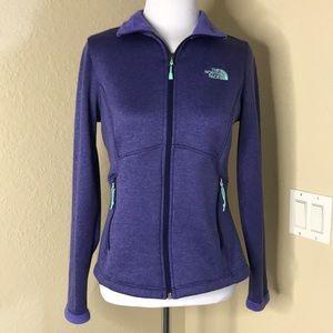 {The North Face} Purple Fleece Jacket